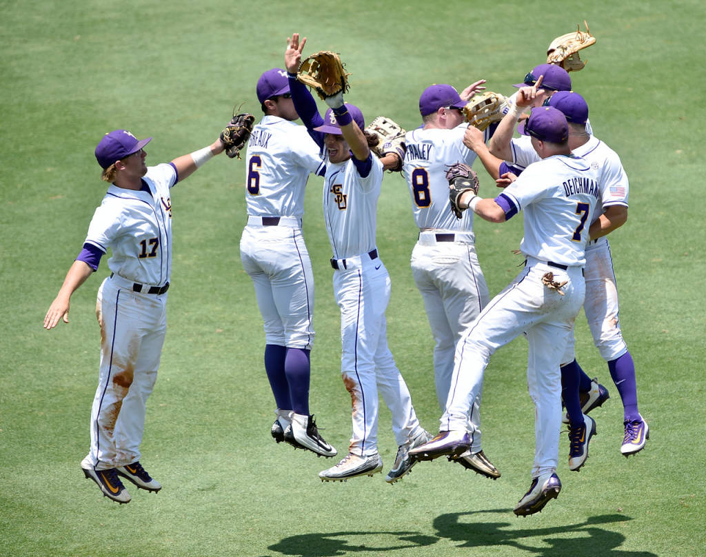 LSU Baseball takes two-of-three vs No. 1 ranked Florida this weekend.