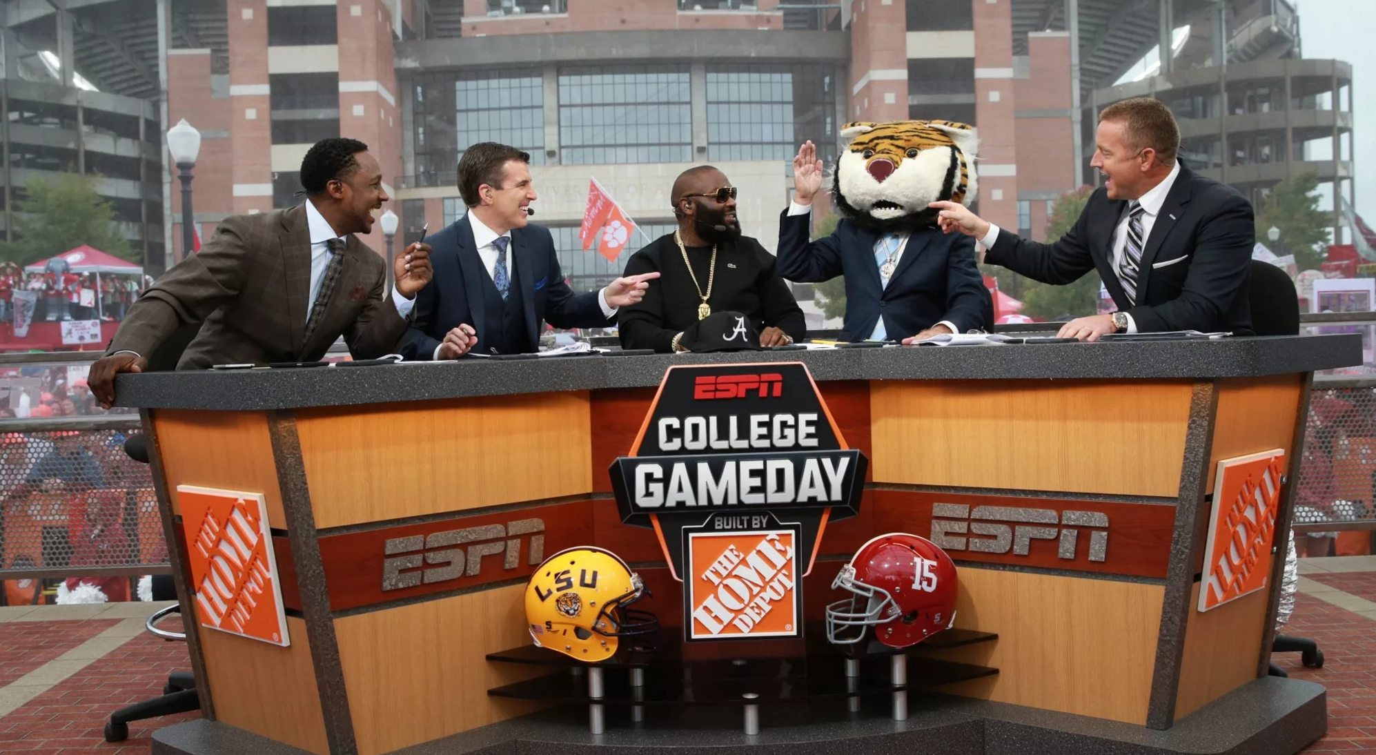 ESPN's College GameDay will be at Lambeau Field for LSU vs Wisconsin, says Kirk Herbstreet.