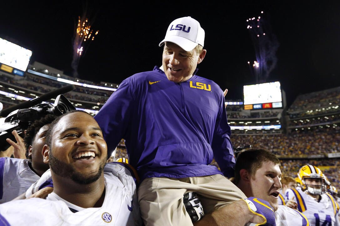 Simply put: Thank you, Les Miles.