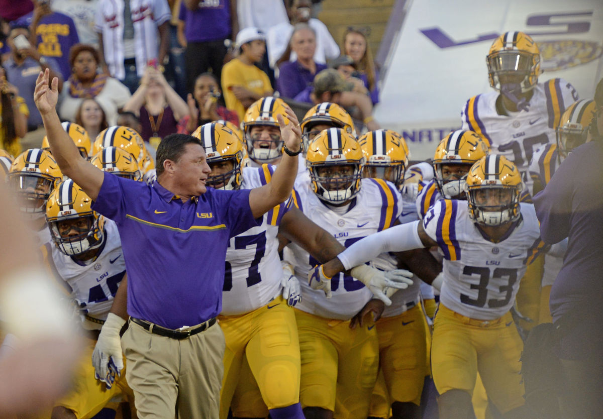 LSU runs past Missouri 42-7 in debut of Coach Ed Orgeron