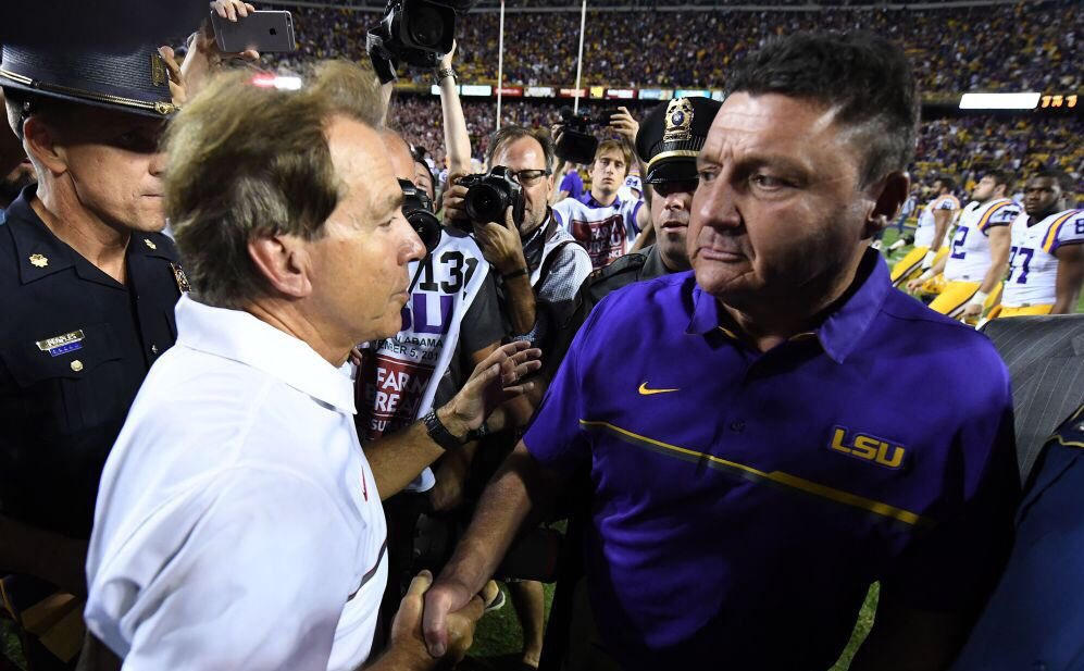 Ed Orgeron, LSU must prevent Nick Saban from landing Louisiana's top prospects