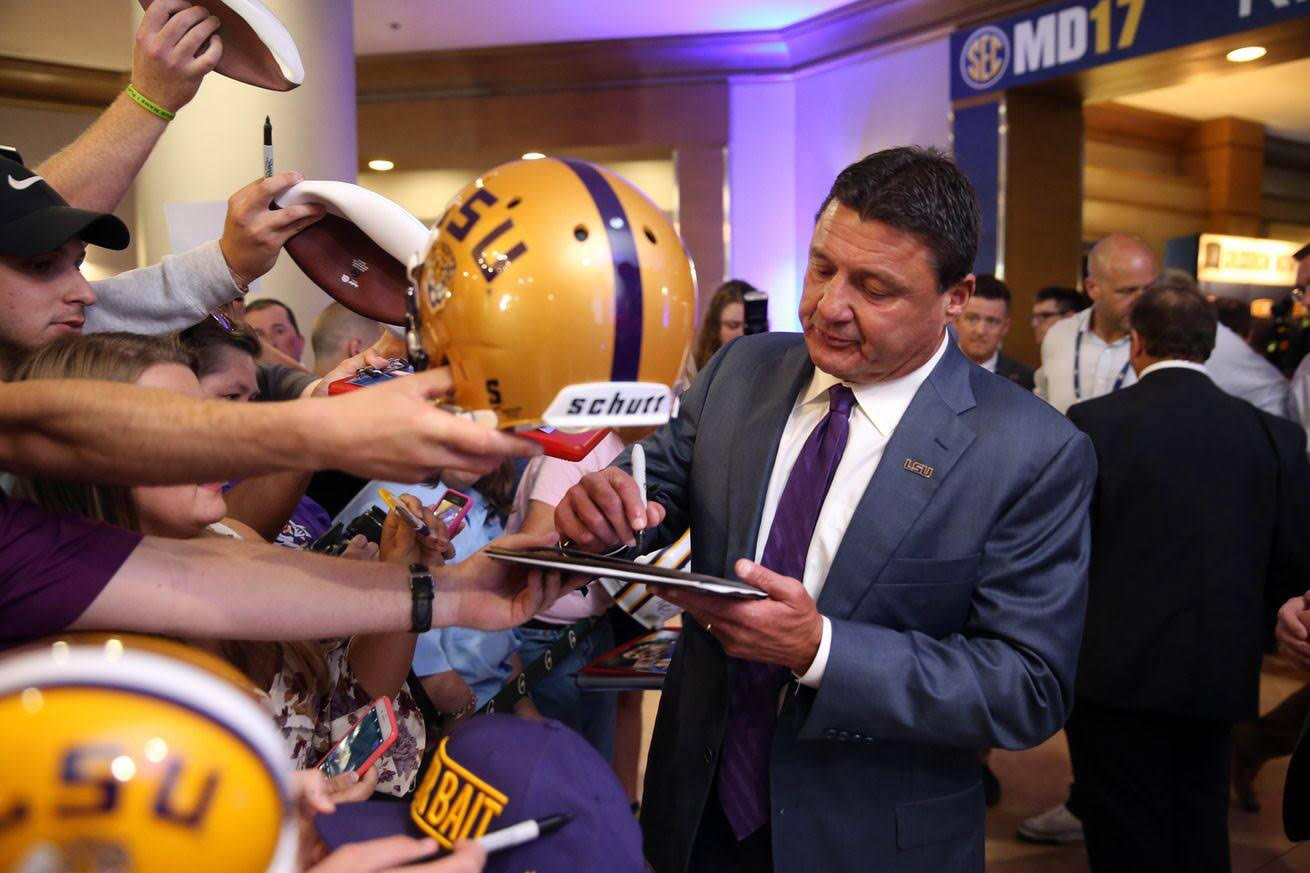 Everything Ed Orgeron said at SEC Media Days