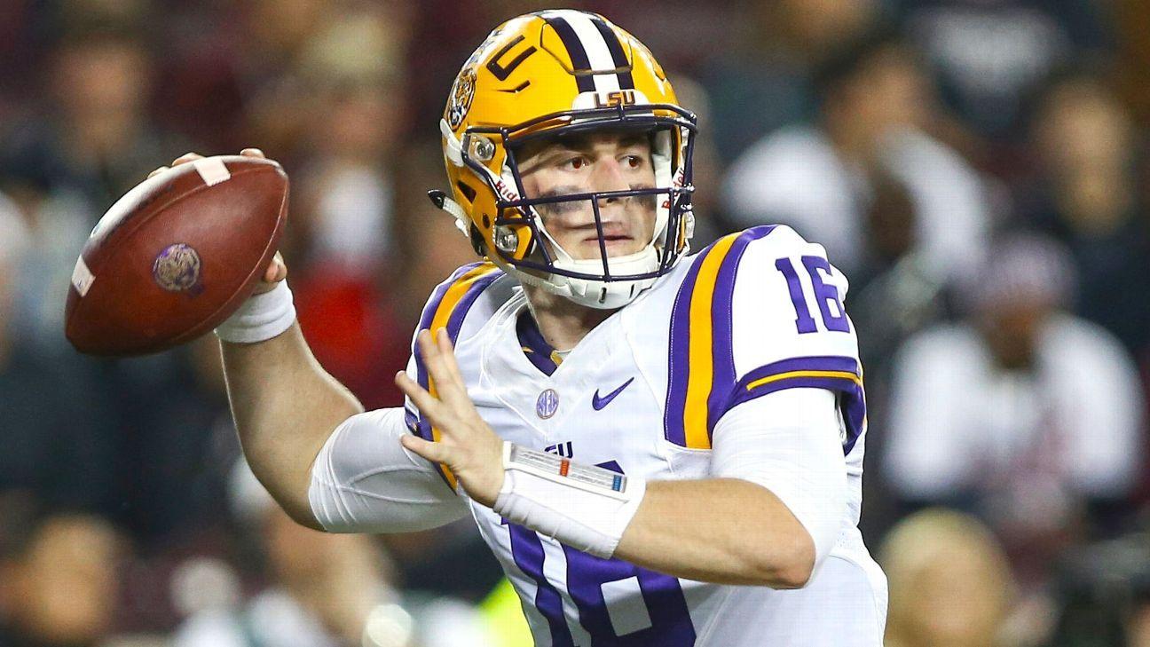 LSU names Danny Etling starting quarterback