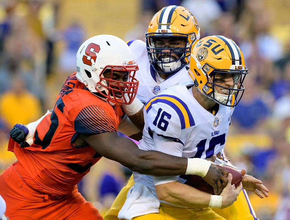 LSU holds on to defeat Syracuse 35-26