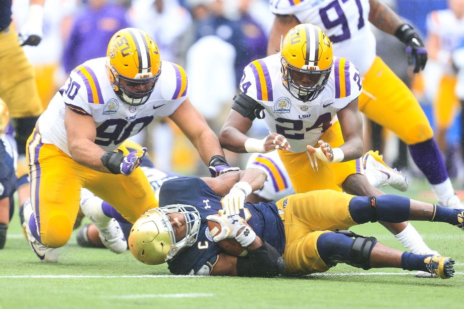 Football holds spring scrimmage in Tiger Stadium