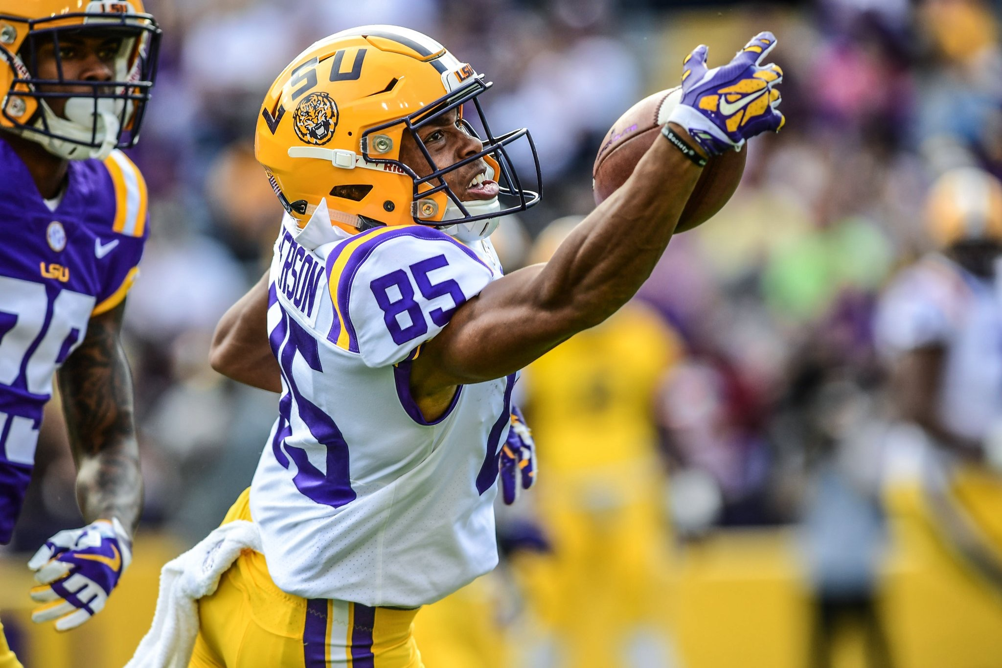 Purple defeats White in annual L-Club Spring Game