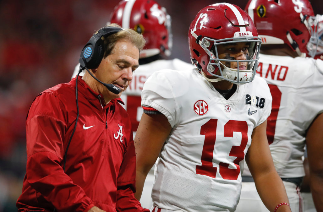 Alabama can win a national title with either quarterback