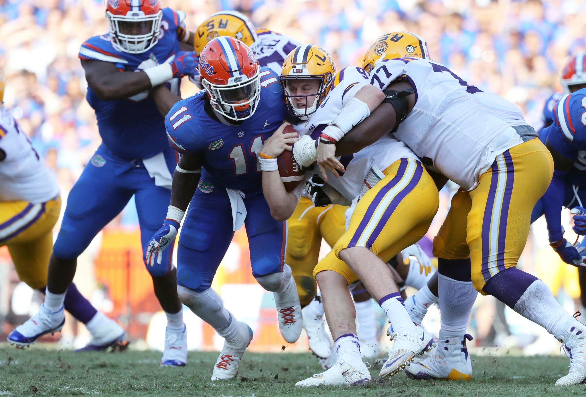 Football comes up short at The Swamp, 19-27