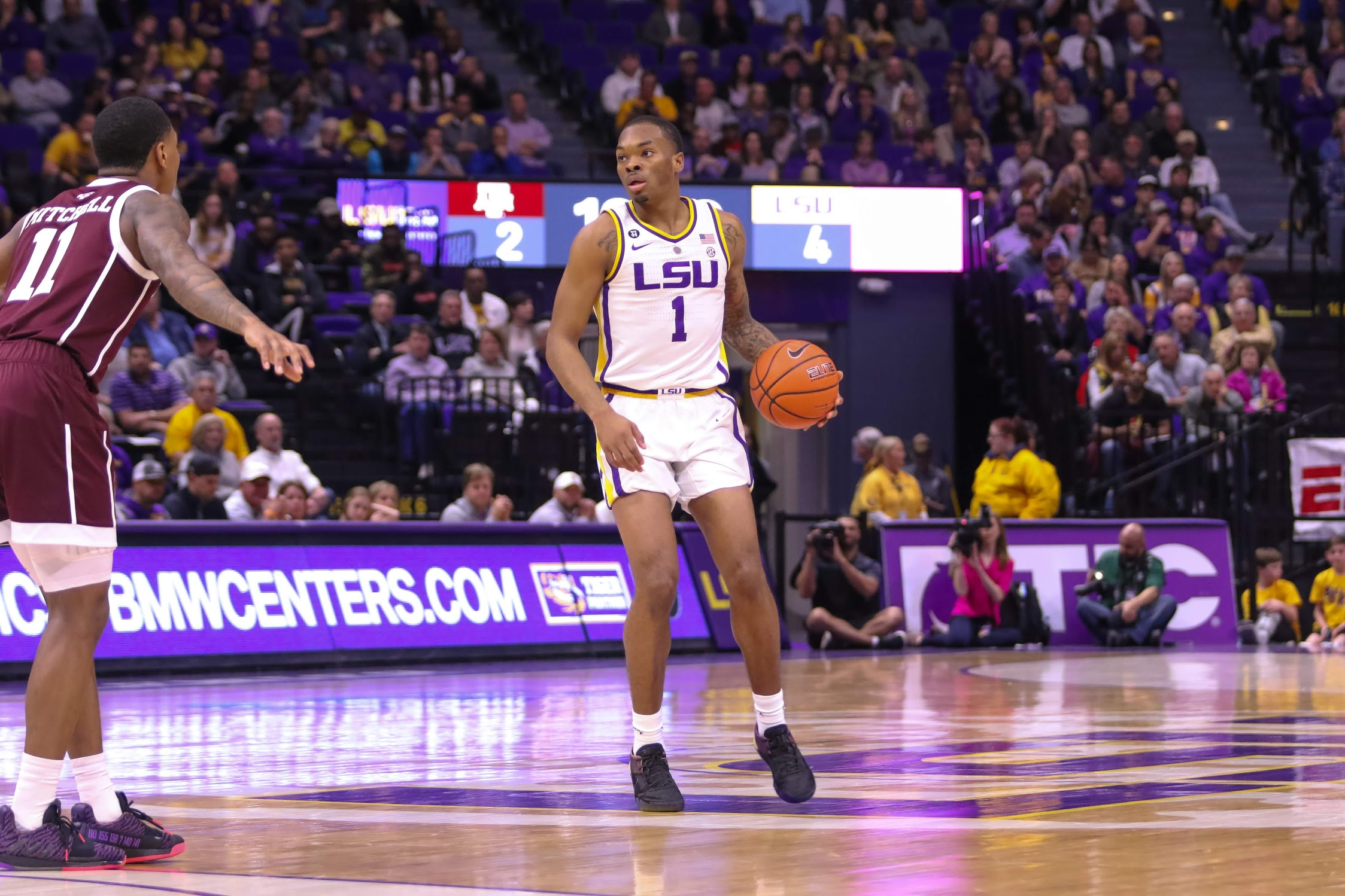 LSU handles Texas A&M behind Naz Reid