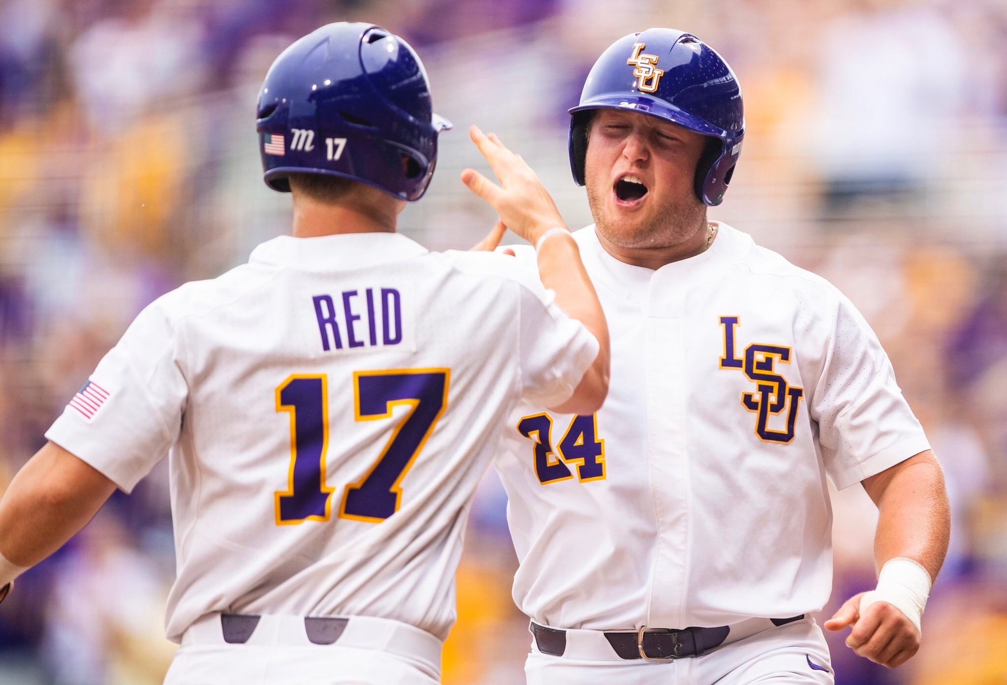 LSU routs Stony Brook in regional opener, 17-3