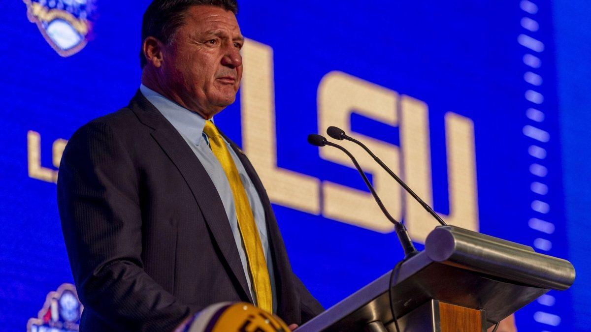 LSU, Ed Orgeron at SEC Media Days 2019