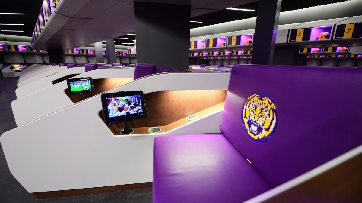 LSU unveils incredible new locker room inside football ops building
