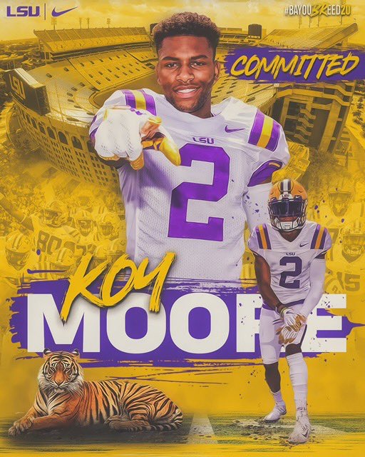 Four-star Rummel WR Koy Moore commits to LSU