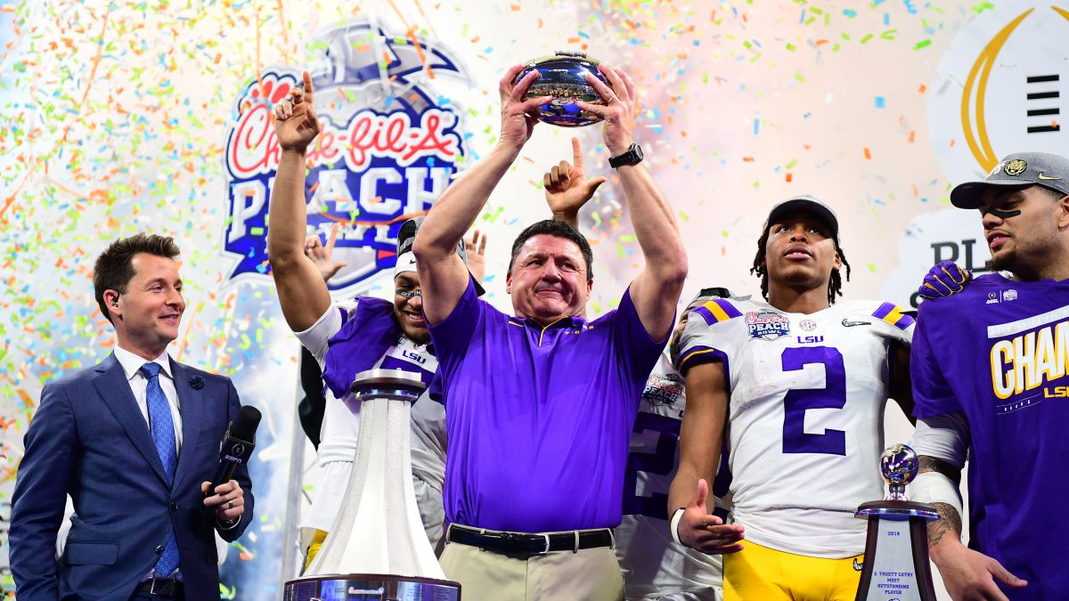 LSU routs Oklahoma 63-28 to advance to National Championship