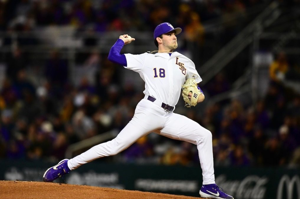LSU defeats Indiana 8-1 in season opener behind Cole Henry, Cade Doughty
