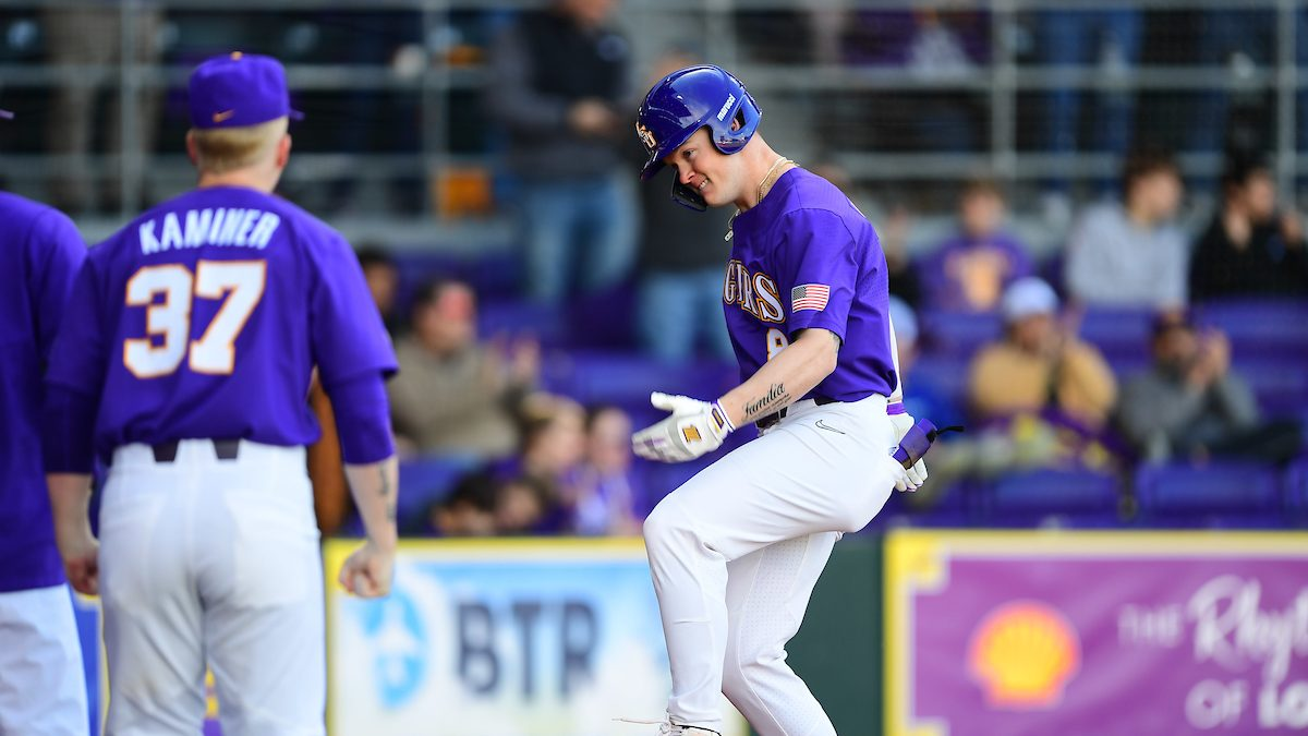 LSU bounces back to even series vs. Eastern Kentucky behind Landon Marceaux