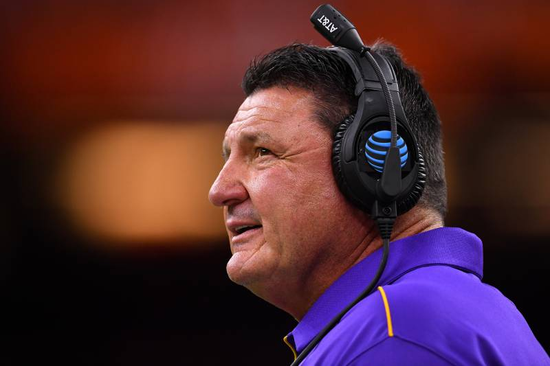 Ed Orgeron provides some updates ahead of LSU football spring practice
